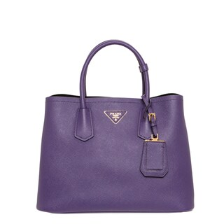 Prada 'Cuir' Purple Saffiano Leather Tote
