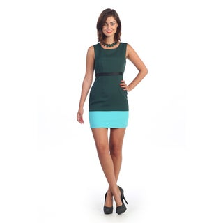 Hadari Women's Two-tone Stripe Sheath Dress