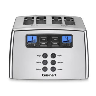 Cuisinart CPT-440CH Polished Chrome 4-slice Touch to Toast Leverless Toaster