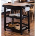 Furniture of America Antennie Black Mobile Kitchen Cart