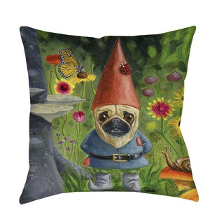 Thumbprintz Pug Gnome Indoor/ Outdoor Throw Pillow