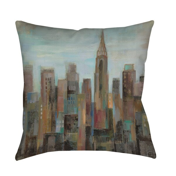 Thumbprintz Cityscape at Dawn Indoor/ Outdoor Pillow