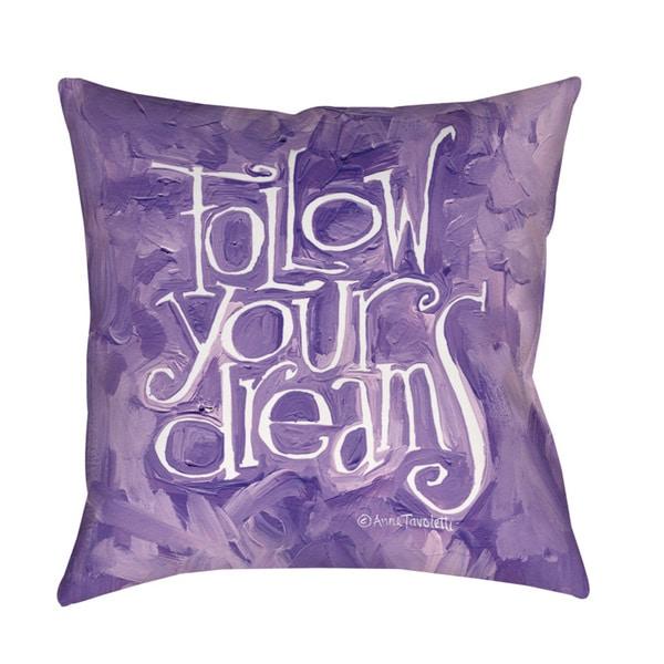 Thumbprintz Follow Your Dreams Indoor/ Outdoor Pillow