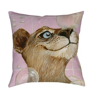 Thumbprintz Bubbles Ann Indoor/ Outdoor Throw Pillow