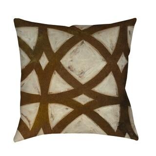 Thumbprintz Circle Overlay I Indoor/ Outdoor Throw Pillow
