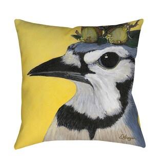 Thumbprintz You Silly Bird Parker Indoor/ Outdoor Throw Pillow