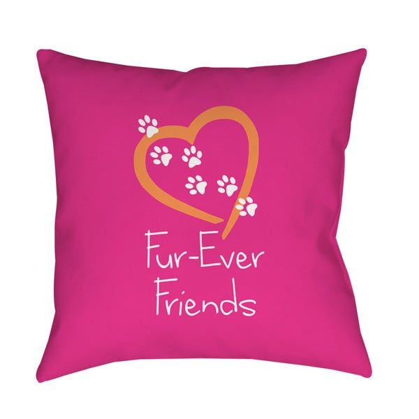 Thumbprintz Forever Friends Pink Throw/ Floor Pillow