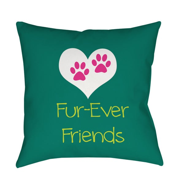 Thumbprintz Forever Friends Teal Throw/ Floor Pillow