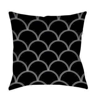 Thumbprintz Art Deco Circles Black and White Throw/ Floor Pillow