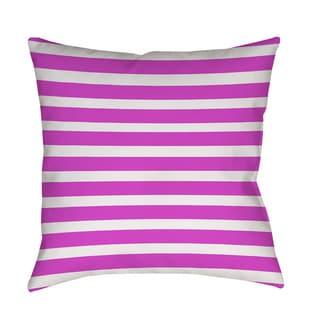 Thumbprintz Bright Stripes Pink Throw/ Floor Pillow