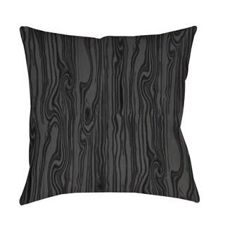 Thumbprintz Wood Grain Large Scale Black Throw/ Floor Pillow