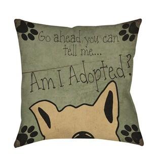 Thumbprintz Am I Adopted Throw/ Floor Pillow
