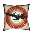 Thumbprintz Vintage Airplane Throw/ Floor Pillow