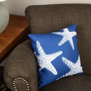 Thumbprintz Nautical Nonsense White Blue Starfish Throw/ Floor Pillow