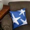 Thumbprintz Nautical Nonsense White Blue Starfish Throw/ Floor Pillow