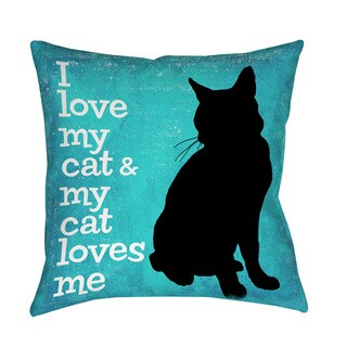 Thumbprintz I Love My Cat Throw/ Floor Pillow