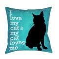 Thumbprintz I Love My Cat Throw/ Floor Pillow