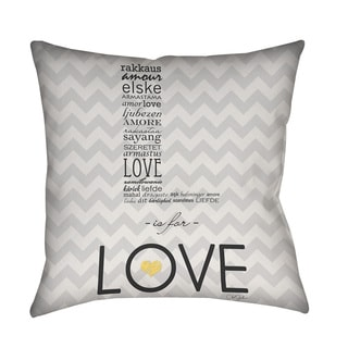 Thumbprintz L is for Love Throw/ Floor Pillow