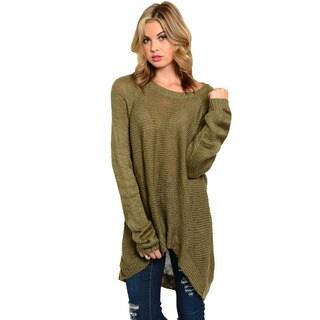 Feellib Women's Olive Green Oversized Sweater