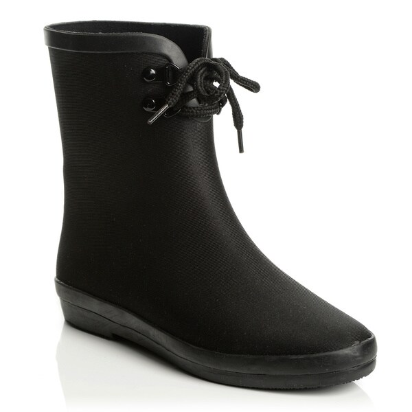 Henry Ferrera New York Women's Black 2-eyelet Lace-up Boots