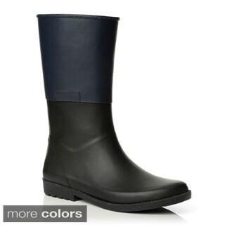 Henry Ferrera Women's Colorblocked Rubber Rain Boots