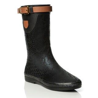 Henry Ferrera Women's Mixed Animal Print Mid-calf Rain Boots