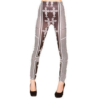 Just One Juniors Medieval Cross Seamless Printed Leggings