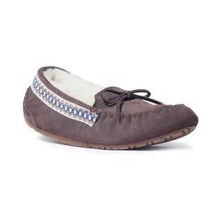 Muk Luks Women's 'Jane' Dark Brown Suede Moccasin Flats
