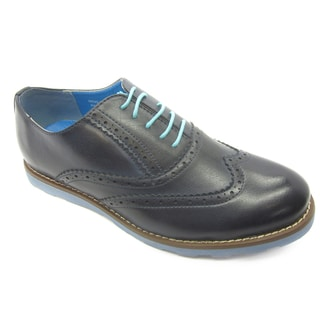 Island Footwear Men's 'Harry' Blue Oxford Shoes