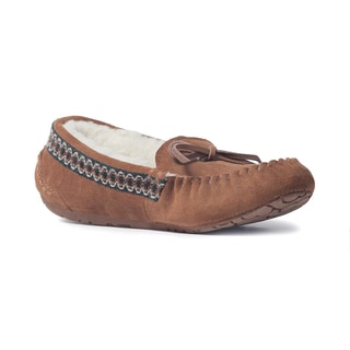 Muk Luks Women's 'Jane' Light Brown Suede Moccasin Flats