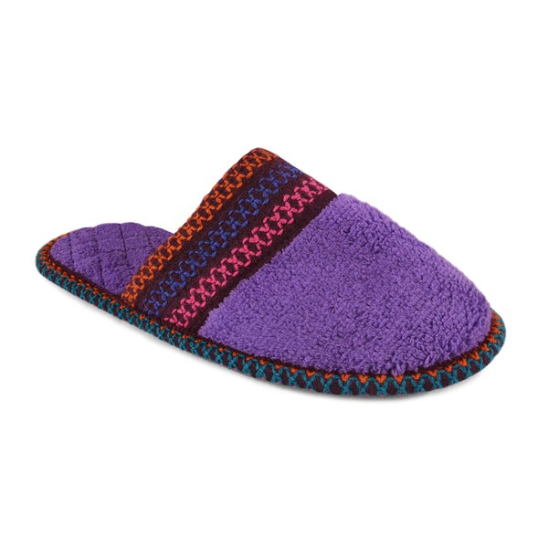 Muk Luks Women's 'Cathy' Lilac Micro Chenille Slippers