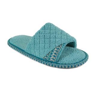 Muk Luks Women's 'Sally' Rain Blue Open-toe Scuff Slippers