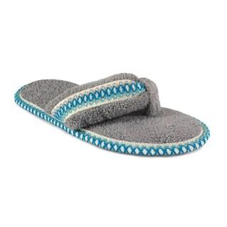 Muk Luks Women's 'Darlene' Ash Micro Chenille Thong Slippers