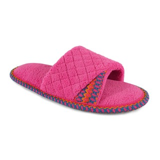 Muk Luks Women's 'Sally' Bubblegum Pink Open-toe Scuff Slippers