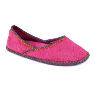 Muk Luks Women's 'Beverly' Bubblegum Pink Micro Chenille Ballerina Slippers