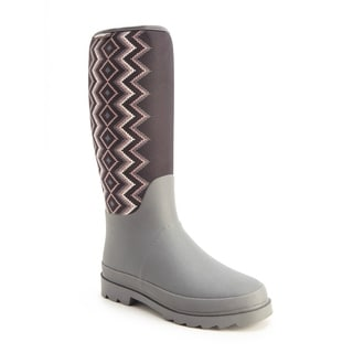 Muk Luks Women's 'Karen' Grey Pull-on Rain Boots