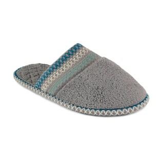 Muk Luks Women's 'Cathy' Ash Grey Micro Chenille Slippers