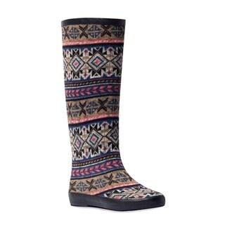 Muk Luks Women's 'Aubrie' Grape Tribal Stripe Rain Boots