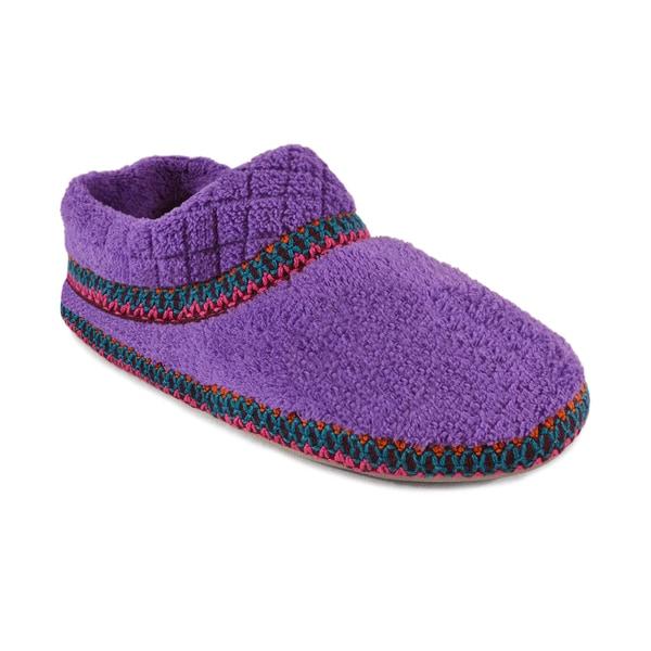 Muk Luks Women's 'Rita' Lilac Micro Chenille Full Foot Slippers