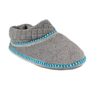 Muk Luks Women's 'Rita' Ash Grey Micro Chenille Full Foot Slippers