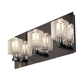 Access Lighting Sophie 3 Light Etched Crystal Vanity