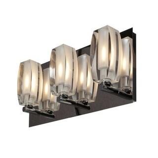 Access Lighting Evia 3 Light Crystal Vanity