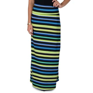 Hailey Jeans Co. Junior's Striped Fold-over Top Maxi Skirt