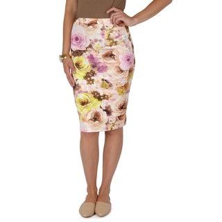Hailey Jeans Co. Junior's Printed Elastic Waist Pencil Skirt