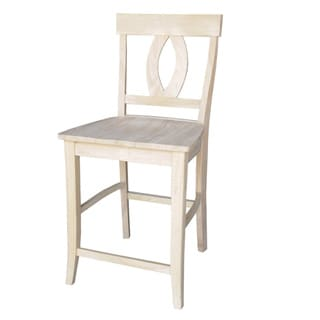 Verona Unfinished 24-inch Solid Parawood Counter Stool