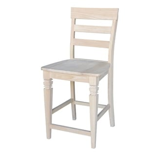 24-inch Unfinished Solid Parawood Java Stool