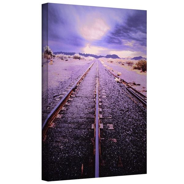 Dean Uhlinger 'Vanishing Point Arizona' Gallery-wrapped Canvas