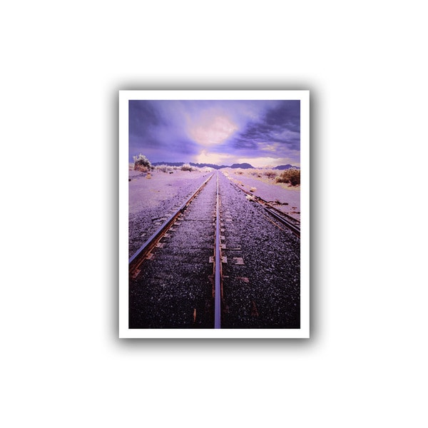 Dean Uhlinger 'Vanishing Point Arizona' Unwrapped Canvas