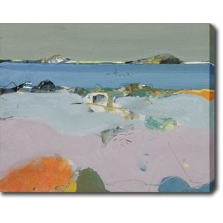 The Pink Beach' Oil on Canvas Art