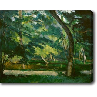 Trees by the Creek' Oil on Canvas Art
